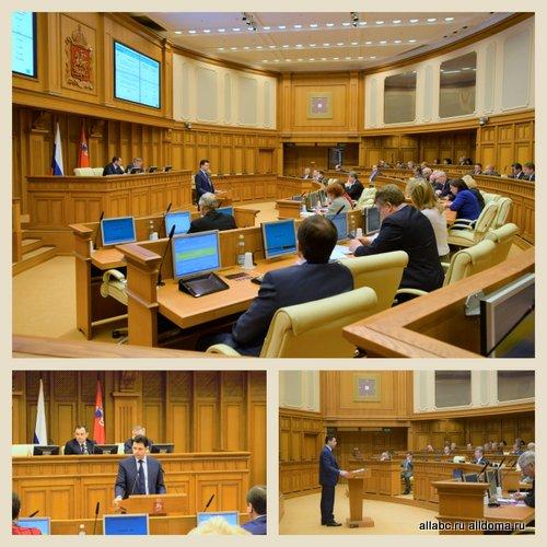 Министр стройкомплекса Московской области рассказал о перспективах решения проблем обманутых дольщиков на заседании в МособлДуме.